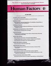 Hfes Human Factors and Ergonomics Society Volume 43 # 3 Winter 2001 journal Sc