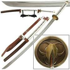 """Japanese Hand-Forged 41"""" Katana Sword with Scabbard and Stand Collectible"""