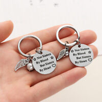 Gift Letter Keyring Not Sisters by Blood Bag Pendant Pearl Wing Key Chain