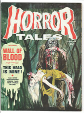 HORROR TALES # 8 Magazine VOL 1  AUGUST 1969 Rare w/ Glossy Cover  (VF+)