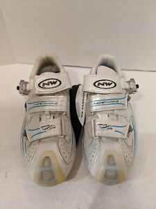 Northwave Devine SBS Women's Road Cycling Shoes Pearl White/Blue Carbon size 7US
