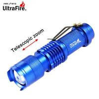 Ultrafire 3500 LM  Q5 14500 AA 3mode ZOOM LED Flashlight MINI Torch Blue VB