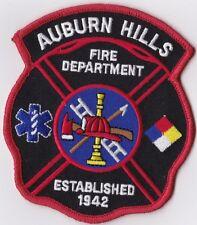 Auburn Hills Fire Dept. MI Michigan Firefighter Patch NEW!!