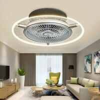 48W 56cm Remote Control Ceiling Fan Light Chandelier Living Room Dimmable Lamp