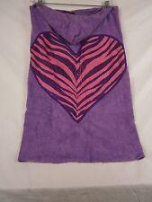 """Company Store Little Kids Hooded One Size Towel Zebra Heart """"Aidan"""" #8137S 10511"""