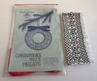 Vintage English Smocking Christmas Tree Wreath Pre-Smocked Kit Ornament 1979