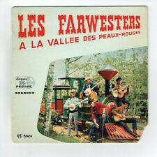 """Les FARWESTERS Vinyle 45T EP 7"""" LA VALLEE DES PEAUX ROUGES - PEGASE 6.32 RARE"""
