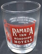 Vintage Ramada Inn Shot Glass Western US States Red Print Roadside Hotels