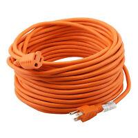 16/3 Outdoor Extension Cord 25/50/100ft SJTW Plug Orange Heavy Duty Cords Indoor