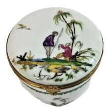 """RAYNAUD CHINESE DECOR """"SI KIANG"""" Candle Box PORCELAIN LIMOGES FRANCE"""