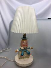 Humpty Dumpty Nursery Originals Vintage Wooden Lamp June 1978 with shade