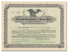 East Palestine Rubber Company Bonus Bond Certificate (Issued to Charles Barney)