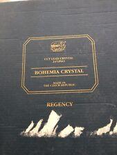 Bohemia Regency Crystal Cocktail Glasses, Set In Box.