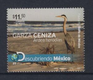 Mexico - 2010, Fauna of Gulf of Mexico, Blue Heron Bird stamp - MNH - SG 3264a