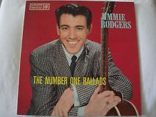 JIMMIE RODGERS THE NUMBER ONE BALLADS VINYL LP  ROULETTE R-25033 MONO EX