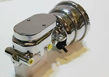 "TORANA LH-LX 7 "" CHROME BRAKE BOOSTER D/DIAPHRAM & MASTER CYL 1 1/8 FLAT TOP CHR"