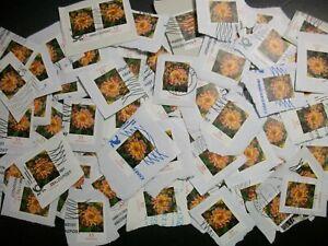 Bund Dauerserie Blumen selbstklebend 35 Cent gest. auf Papier 100 Stück