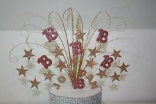 CAKE TOPPER SPRAY, ROSE GOLD, 18TH, 21ST  ANY AGE, ANY COLOUR/COLOURS