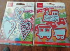 MARIANNE CREATABLE LR0308 TRAINS AND HEARTS 2 PACKS NEW
