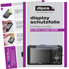 2x Nikon Coolpix S9300 screen protector protection guard crystal clear