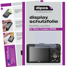 2x Nikon Coolpix S9300 Schutzfolie klar Displayschutzfolie Folie unsichtbar