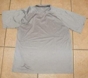 Mens Gray Large 42 / 44 Casual Wear Stretchy Athletic Shirt BCG TRU WICK