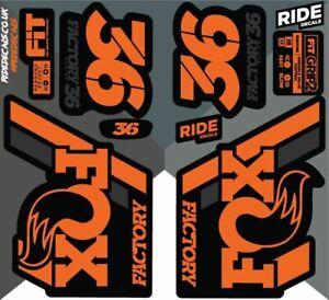 Fox 36 2018 Decals/Stickers -Orange