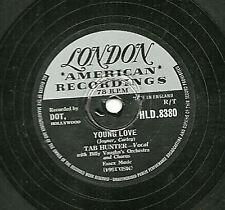 1957 Reino Unido #1 Tab Hunter 78 amor Joven/Velas Rojas en el atardecer Londres Hld 8330 E -