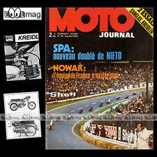 MOTO JOURNAL N°76 MONARK KREIDLER RS 50 TERROT 350 ZUNDAPP K 500 BSA SPA GP 1972