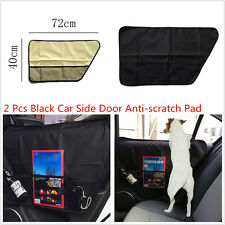 2 x Black Oxford Cloth Car Side Door Anti-scratch Anti-kick Pet Pad Storage Tidy
