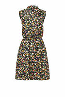 Tory Burch Black Women's Size 8 Henley Floral Print Sheath Dress $550- #587