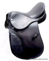 "12"" Black Leather All Purpose Youth / Child English Saddle Horse Tack"