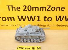 EWM Garm20 1/76 Diecast WWII German Panzer III Ausf M w/ L60 Main Gun + Crewman
