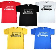 Basic T-Shirt TShirt LKW MIT Werbung Umzug Umzüge Transporte Autoverleih Kurier