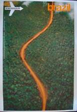 SWISSAIR AIRVIEW BRAZIL Vintage 1971 poster AIRLINES GERSTER 25x40 NM LINEN RARE