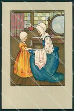 Sowerby Dutch Girl Dondorf serie 169 ABRADED postcard cartolina QT6182