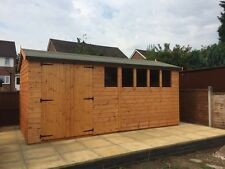 16x8 HEAVY DUTY APEX SHED - 13mm T/G, WORKSHOP