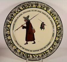 Royal Doulton Isaac Walton Ware Gallant Fishers Antique Plate 1906 Green Brown