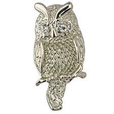 NEW KIRKS FOLLY GARDEN OWL PIN  SILVERTONE