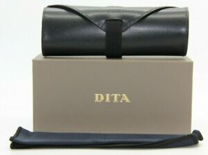BRAND NEW DITA SUNGLASSES EYEGLASSES GREY BOX BLACK LEATHER CASE CLOTH DOCUMENTS