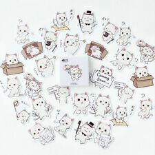 45Pcs Box-packed Cute Cat Sticker Decoration Stationery Stickers DIY Diary Label