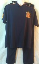 Spain National Soccer Team Polyester Warm up Shirt & Pants Men's Large (15)