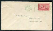 Etats Unis - Enveloppe de Washington en 1928 , oblitération en vert Aviation -
