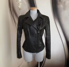 TOP DESIGNER MATCHLESS SOHO REAL Leather FITTED BIKER JACKET 12 MADE IN ITALY