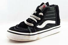 VANS Black Fabric Casual Shoes Toddler Boys Sz 9