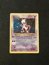 Pokemon Card Holo Shadowless Mewtwo 10/102 Base Set