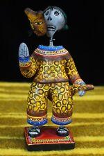 Day of the Dead, Muerto - Skeleton Masked Jaguar Dancer, Puebla Mexican Folk Art