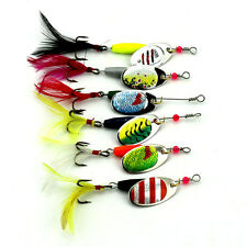 fishing Lure Set Kit Baits Trout Bass Salmon Spinners Frogs Spoon fresh/salt wat