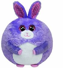 "NEW Ty Beanie Ballz Lilac the Bunny Purple Plush - 5"" FREE SHIPPING"