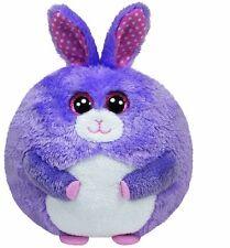 "NEW Ty Beanie Ballz Lilac the Bunny Purple Plush - 5"" FREE SHIPPING"